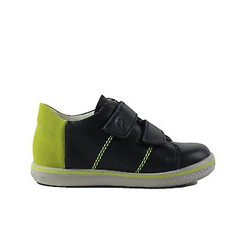 Ricosta Barney 2529700-187 Navy Leather Boys Rip Tape Zapatos Casual Trainer