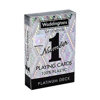 Waddington's No. 1 PLATINUM-Classic high quality playing cards