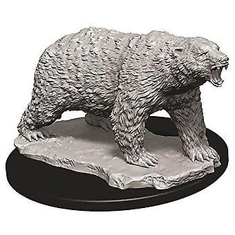 WizKids Deep Cuts Unpainted Miniatures Polar Bear (Pack of 6)