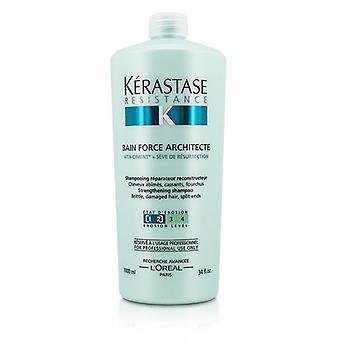 Kerastase Widerstand Bain Force Architecte Stärkung Shampoo (für Brittle damaged Hair Split Ends) - 1000ml/34oz
