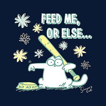 Simon's Cat Feed Me Or Else Kid's Hooded Sweatshirt