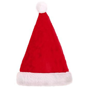 Seasons Greetings Plush Christmas Santa Hat