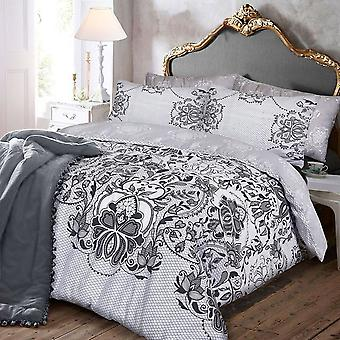 Pieridae Lace Print Duvet Cover Set