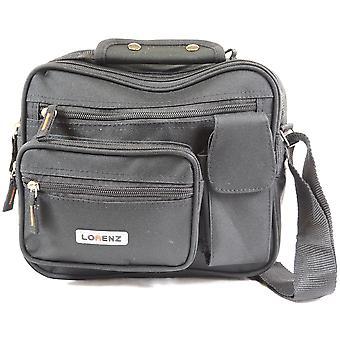 Canvas Style Multi-Functional Shoulder Bag / Cross Body Flight Work Travel Bag ( Black )