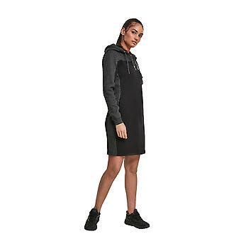Αστικά κλασικά γυναικεία ζέρσεϊ φόρεμα 2 τόνων με κουκούλα