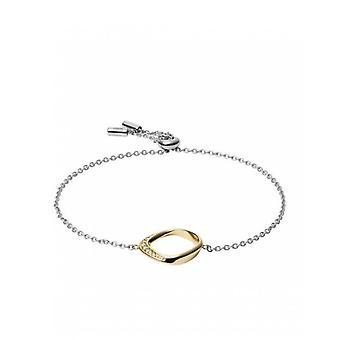 Fossil bracelet JF03200998 - CLASSICS Silver Crystals Transparent 21/6 cm Steel Women