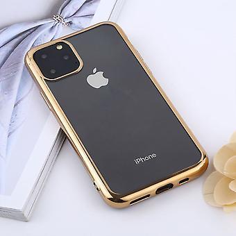 Para o caso do iPhone 11 Pro Max, capa traseira clara de proteção, ouro
