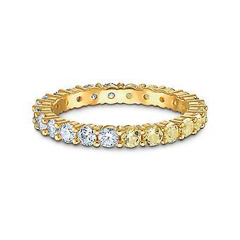 BAGUE Swarovski 5535246-ring M Tal dor krystaller gule og hvite kvinner