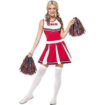Cheerleader Costume Adult Red