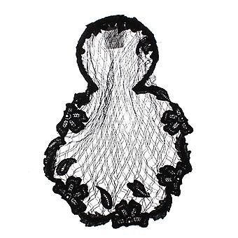 Dolce & Gabbana Black Floral Crochet Hair Net