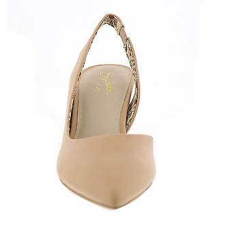 Seychelles Women's Ornament Heeled Sandal, Nude Leather, Size 10.0