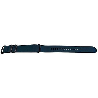 N.a.t.o zulu g10 style watch strap 4 ring blue with black buckle 18mm,20mm,22mm,24mm