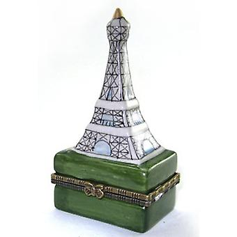 Paris France Eiffel Tower Hinged Trinket Box