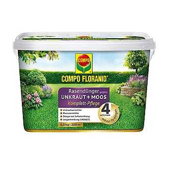 COMPO Floranid® lawn fertilizer against weeds + moss complete care, 6 kg