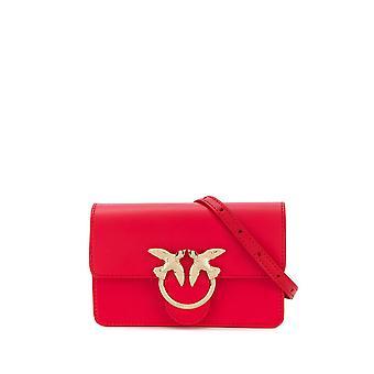 Pinko 1p21kry5ffr24 Mujer's Bolsa de cuero rojo