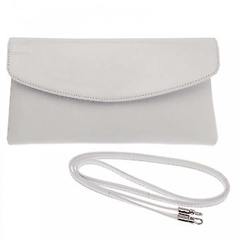 Peter Kaiser White Patent Winema Fold Over Clutch
