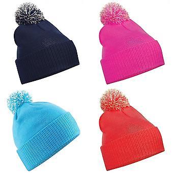 Beechfield Junior Snowstar Duo Winter Beanie Hat / Schoolwear