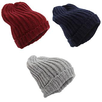 Womens/Ladies strikket vinter Slouch Beanie lue