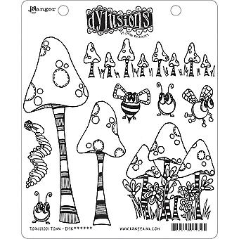 """Dyan Reaveley's Dylusions Cling Stamp Collections 8.5""""X7"""" - Anadstool Town"""