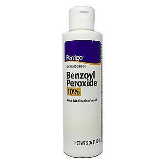 Perrigo benzoyl peroxide liquid 10% wash, 5 oz