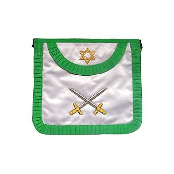 Satin masonic apron – french chapter – 3rd order – crossed swords