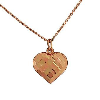 TOC Rose-Goldtone Sterling Silver Puffed Heart Pendant Necklace 18