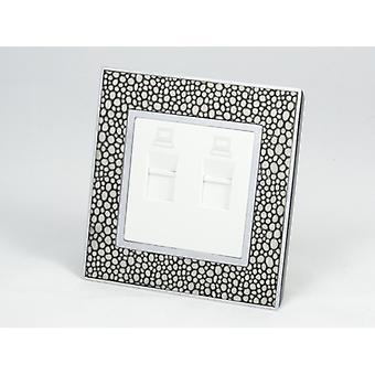 I LumoS AS Luxury Pearl Leather Single 2 X Internet Socket
