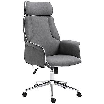 Vinsetto Office Chair Rocking Chair with Wheels Executive Adjustable High Back Grey