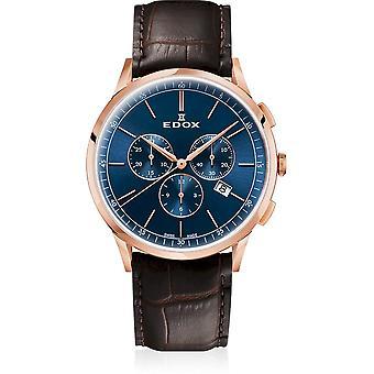 Edox - Wristwatch - Men - Les Vauberts - Chronograph - 10236 37RC BUIR