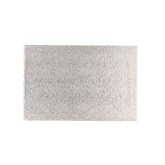 """Culpitt 18"""" X 14"""" (457 X 355mm) Double Thick Rectangle Turn Edge Cake Cards Silver Fern (3mm Thick) - Single"""
