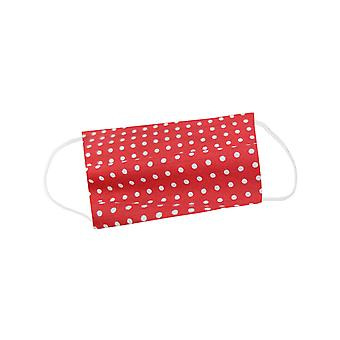 Mio WNS5 Sweet Spot Red and White Polka Dot Cotton Face Mask with Removable Filter and Nose Wire