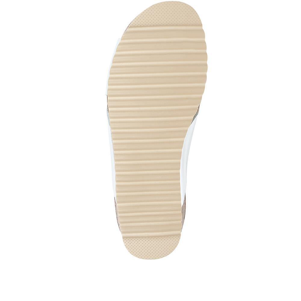 Jones Bootmaker Elora Flat Leather Slider Sandals