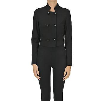Nualy Ezgl5377001 Women's Black Nylon Blazer