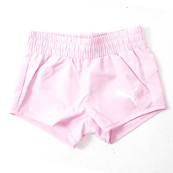 Puma Active Dry Essential Woven Kids Girls Sport Summer Holiday Short Pink