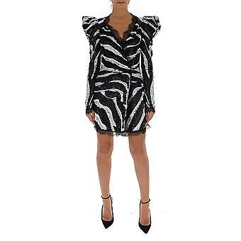 Amen Couture Acw19403089 Damen's weiß/schwarz Viskose Kleid