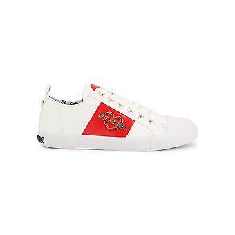 Love Moschino - Shoes - Sneakers - JA15033G18IB_0100 - Ladies - white,red - EU 36