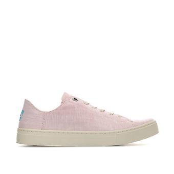 Women's Toms Lenox Slub Chambray Sneakers in Pink