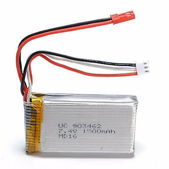 YUNIQUE ITALIA® 1 Pezzo Batteria Lipo Ricaricabile (7.4V 1500mAh) per WLtoys V912 V262 A949V V913 L959 L979 WLtoys Q212G