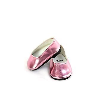 """18"""" bambola Abbigliamento scivolare su pattini di vestito metallizzato, rosa"""
