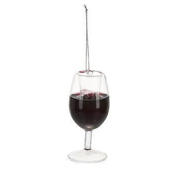 Merry Merlot glas wijn Kerst vakantie ornament