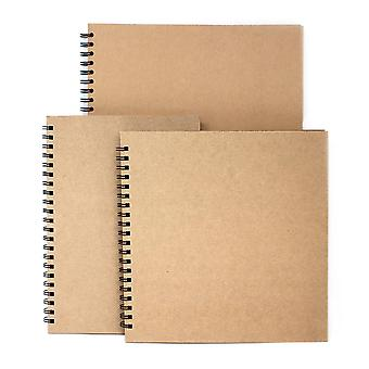 Artway Enviro Spiral Bound Black Card Sketchbooks - 270gsm - A3 & A4 Ritratto, 285mm Quadrato