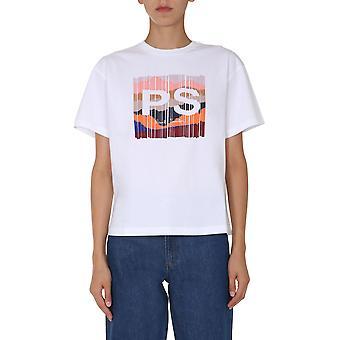 Ps Door Paul Smith W2r031vep200301 Women's White Cotton T-shirt