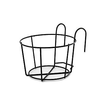 YANGFAN Hanging Plant Iron Racks Balcony Round Flower Pot