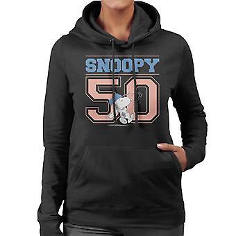 Orzeszki ziemne Snoopy 50 Baseball Swing Damska bluza z kapturem
