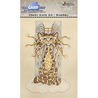 The Card Hut Crazy Cats Gabriel Clear Stamps