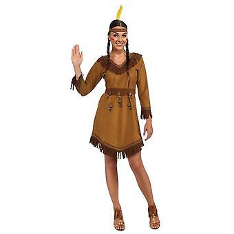 Native American Indian Maiden Pocahontas Western Wild West Womens Costume STD