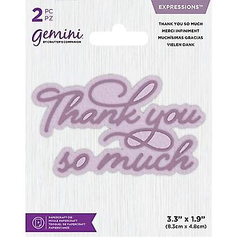 Gemini Thank You So Much Expressions Dies