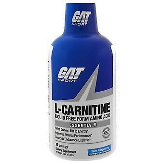 GAT, L-Carnitine, Aminozuur, Vrije Vorm, Blauwe Framboos, 16 oz (473 ml)