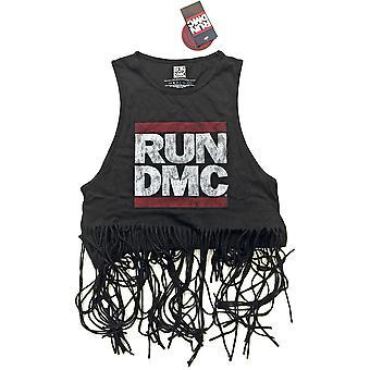 Ladies Run Dmc Vest Logo Vintage Official Tee T-Shirt Female