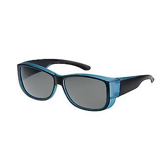 Sunglasses Unisex black/blue with green lens VZ0035K